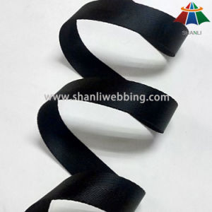 25mm Black Herringbone Nylon Webbing pictures & photos
