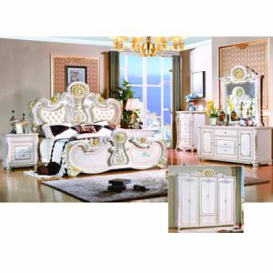Antique Bedroom Furniture with Antique Bed and Cabinet (W801#)