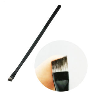 Factory Wholesale Cheap Angled Eyebrow Makeup Brush with Wooden Handle