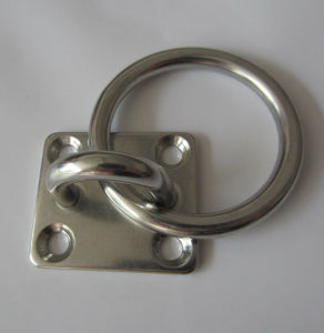 Stainless Steel Square Eye Plate with Ring, Square Pad Eye with Ring pictures & photos