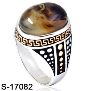 New Model Silver Ring Fashion Jewelry with Natural Agate pictures & photos