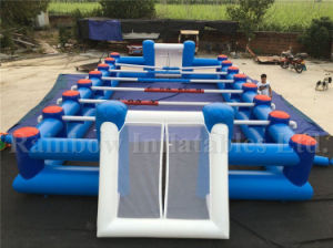 Best Selling Inflatable Human Table Football Pitch, Inflatable Football Filed pictures & photos