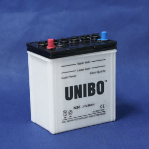 Car Battery  High Quality Dry Charged Battery JIS N36 12V36ah pictures & photos