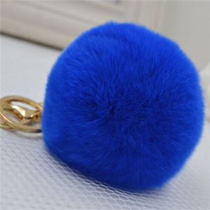 Wholesale Copenhagen Rex Rabbit Fur Keychain pictures & photos
