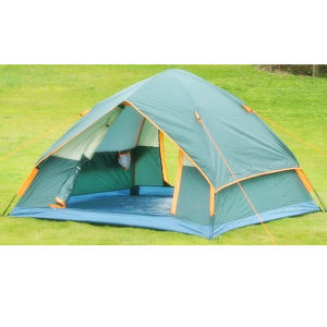 3-4 Person Double Layer Foldable Camping Outdoor Tent pictures & photos