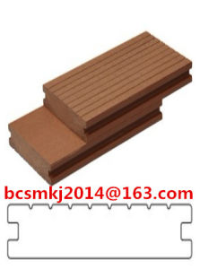 Waterproof Outdoor Wood Plastic Composite Decking with CE SGS