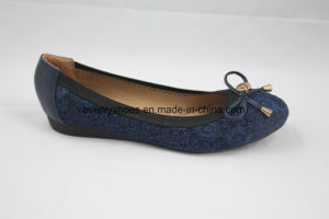 Flat Heel Fashion Lady Flat Shoes with Bowknow Decoration pictures & photos