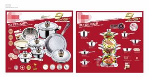 16/18/21/19PCS Stainless Steel Wide Edge Cookware Set pictures & photos