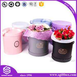 Luxury Promotional Paper Gift Round Packaging Flower Box pictures & photos