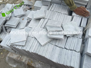 Carrara White Italian Bianco Carrera Marble Making Diamond Mosaic pictures & photos