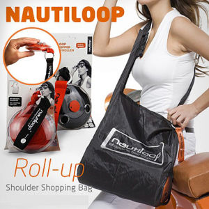 Magic Mini Shopping Stored and Folded Roll-up Shoulder Shopping Bag pictures & photos