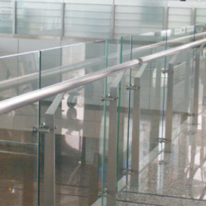 Polished Finished 304/316 Glass Balcony Outdoor Metal Stair Railing pictures & photos