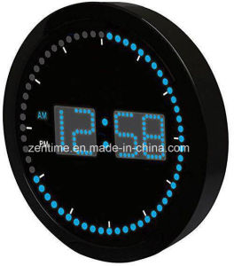 "LED Clock with Circling LED Second Indicator - Round Shape (10"" / Blue LED) pictures & photos"