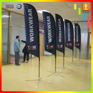 Customized Fiberglass Pole Teardrop Beach Feather Flying Flag (TJ-27) pictures & photos