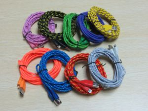 8 Pin Strong Nylon Braided USB Charger Cable for iPhone 1m/2m/3m Length pictures & photos