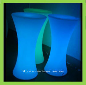Round Bar Table Plastic Cocktail Table for Night Club pictures & photos