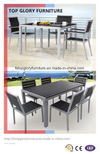 Aluminum Powder Coating Polywood Garden Wholesale Chair and Table (TG-1752/1753) pictures & photos