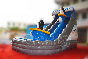 Summer Penguin Inflatable Water Pool Slide for Kids pictures & photos