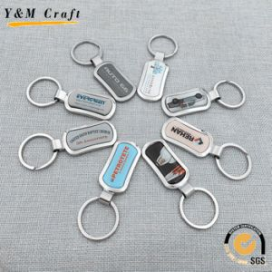 Promotional Gift Custom Metal Key Ring Key Chain with Doming pictures & photos