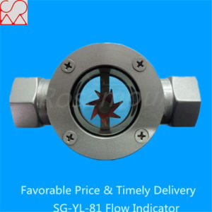 Double Window Suction Glass Flow Indicator with Paddle Wheel pictures & photos