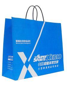 Fashion Flat Handle Design Printed Kraft Paper Bag Wholesale pictures & photos