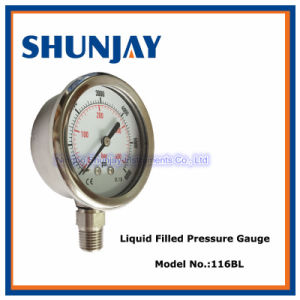 Stainless Steel One Piece Pressure Gauge, Manometer pictures & photos
