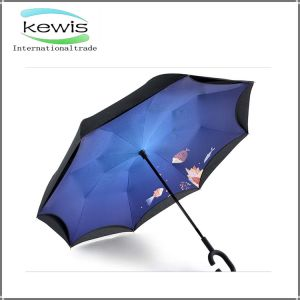 Windproof Double G Handle Inverted Umbrella pictures & photos