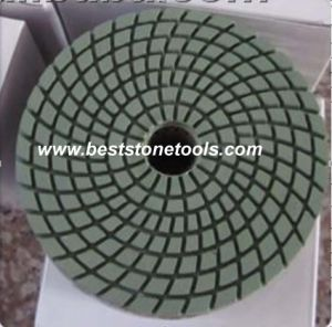 spiral Wet Diamond Polishing Pad pictures & photos