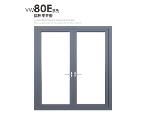 Grey Color Aluminium Framed Glass Casement Awning Windows pictures & photos