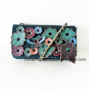 China Supplier Fashion Lady Flower Decoration PU Handbags (NMDK-061602)