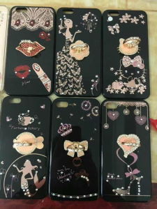 2017 New Vision Diamond Textured Edges TPU Housing Military Grade Cell Phone Case pictures & photos