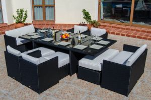 Super Deluxe Rattan Cube Dining Set pictures & photos
