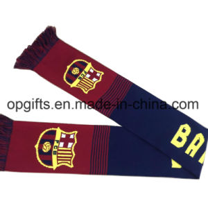 Wholesale Acrylic Knitted Jacquard Sport Fan Scarf pictures & photos