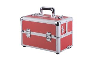 Custom-Made Aluminium Storage Case/Box Makeup Trolley Box Fashion Cosmetic Case pictures & photos