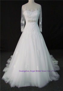 3D Flowers Quinceanera Dresses Puffy Tulle off Shoulder Bridal Wedding pictures & photos