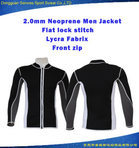 2.5mm Men Multi-Sport Lycra Sleeve Super Stretch Jacket Wetsuit