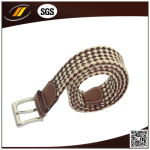 Zinc Alloy Pin Buckle Polyester Leather Braided Belts