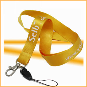 Discount Price Personalized Nylon Lanyard with Lobster Hook pictures & photos