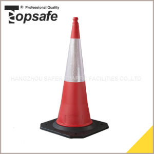 1m Rubber Base Plastic Traffic Safety Cone pictures & photos