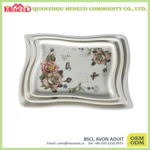 Custom White Melamine Food Serving Tray pictures & photos
