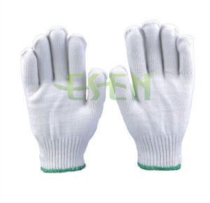 2017 Hot Sale Winter Knitted Cotton Safety Work Glove of Different Grams pictures & photos