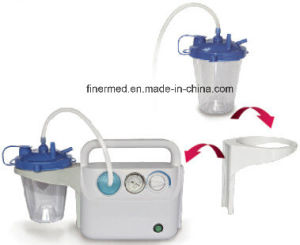 Medical Portable Suction Apparatus with 2 Jar Bottles pictures & photos