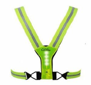 Hi Viz Reflex Rubber LED Safety Vest pictures & photos