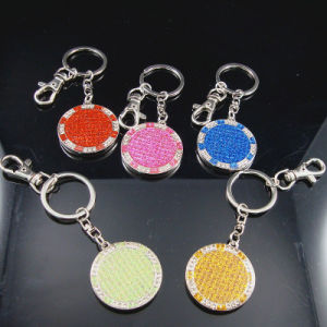 Promotional Gift -Metal Glitter Enamel Key Chains Rings Llavero Melalico pictures & photos