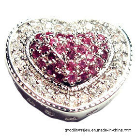 3A Pink Gemstone Pendant with Heart Spaped (P4761) pictures & photos
