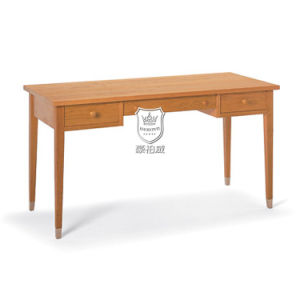 Traditional Wooden Writing Desk Cherry with Metal Cap pictures & photos