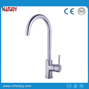 Deck Mounted Single Handle Sink Kitchen Brass Faucet (H24-903S) pictures & photos