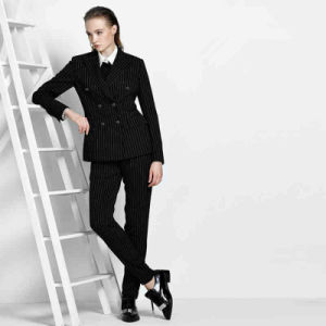 Double Breasted Women′s Business Trousers Suit Attire