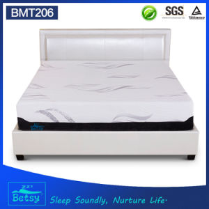 OEM Compressed Aloe Vera Memory Foam Mattress 32cm High with Zipper Cover and Massage Wave Foam pictures & photos