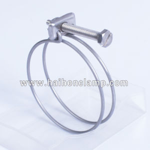 Stainless Steel Double Wires Hose Clamp pictures & photos